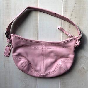 Coach Pink Leather Shoulder Bag